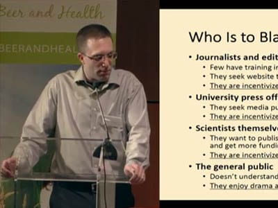 """Dr. Alex Berezow – Alcohol Myths: Don't Fear the Beer (or Say """"Nein"""" to Wine)"""