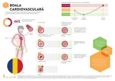 Infographic: Cardiovascular Disease (Romanian Translation)