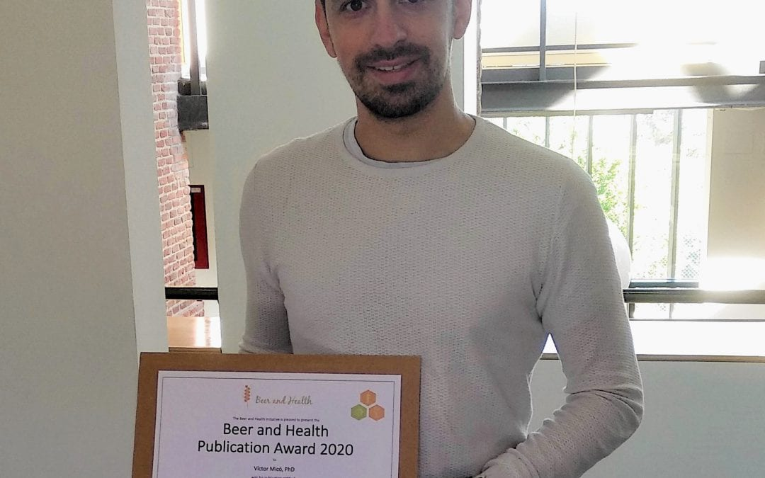 First winner Beer and Health Publication Award
